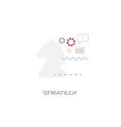 Planning corporate tactic business strategy vector
