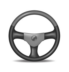 realistic detailed steering wheel vector image