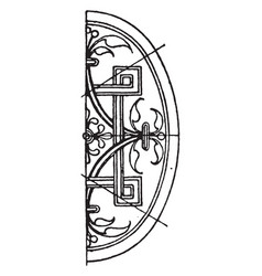 Renaissance elliptic panel is a german design vector