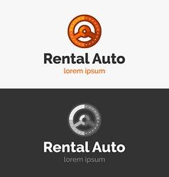 Rental Auto logo vector image