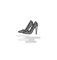 sandals web icon flat line filled gray icon vector image