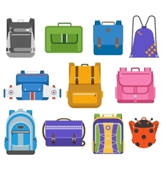 School bags set vector