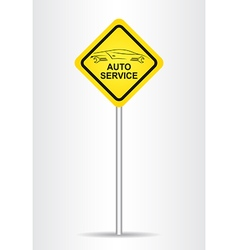Sign Service vector image