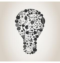 Sports a bulb vector