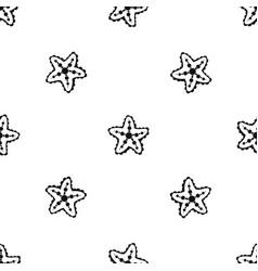 starfish pattern seamless black vector image
