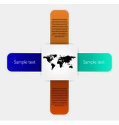 Stickers elements and world map vector image