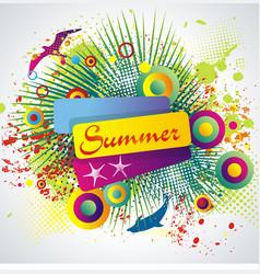 Summer banner on abstract blot spot background vector