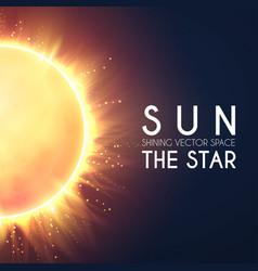 sun in universe shining star cosmos design vector image