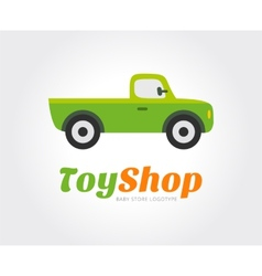 Toy car logo template for branding vector