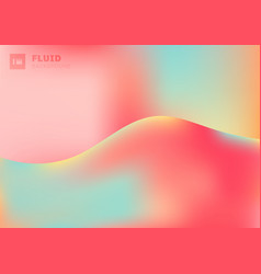 trendy fluid vivid color gradient wave shape vector image
