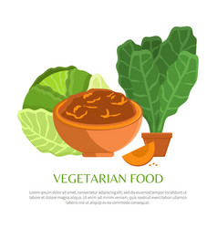 vegetarian food colorful vector image