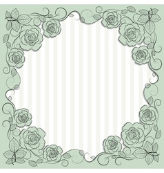Vintage paper frame with floral pattern for use in vector image