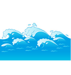 Waves theme image 3 vector