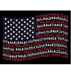 Waving american flag stylization sale text vector