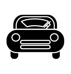 windshield car icon black vector image