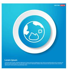 World globe icon abstract blue web sticker button vector
