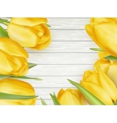 Yellow tulips EPS 10 vector