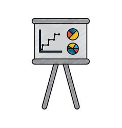business board presentation graphs statistics vector image vector image