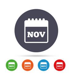 calendar sign icon november month symbol vector image