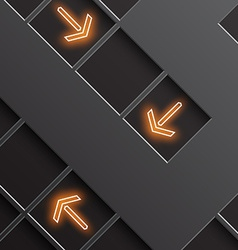 glowing arrows indicate the direction vector image