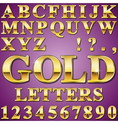 Gold Letters vector image