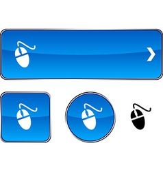 Mouse button set vector image vector image