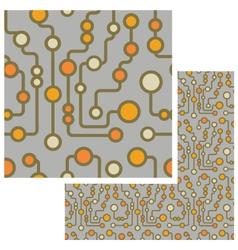 retro circuit seamless pattern vector image vector image