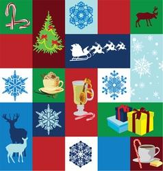 seamless background Christmas holidays vector image