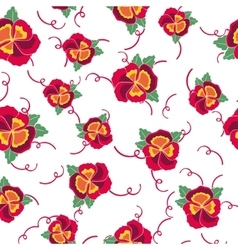 Seamless background with colorful pansy vector