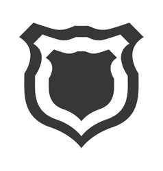 Shield protection insignia security military icon vector