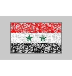 Syria flag design concept vector image