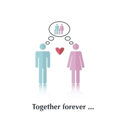 Together forever vector image vector image
