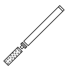 Cigarette icon outline style vector image