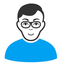 nerd man flat icon vector image