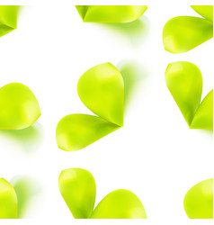 seamless pattern with sprout leaves vector image vector image