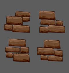stones background set vector image vector image