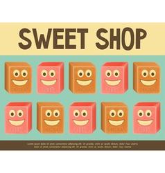 sweet shop blue vector image vector image
