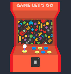 game lets go game machine background image vector image