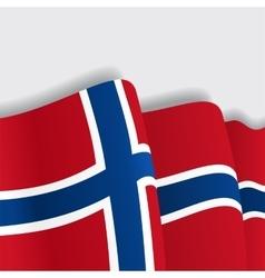 Norwegian waving Flag vector image vector image