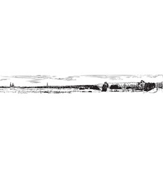 panorama of the old city vector image