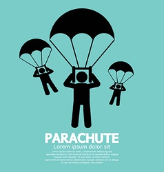 Parachutes Skydiving Sign vector image