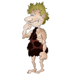 prehistoric man isolated vector image