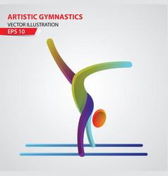 artistic gymnastics color sport icon design vector image vector image