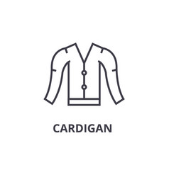 cardigan line icon outline sign linear symbol vector image vector image