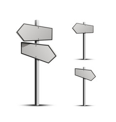 column direction 3d object on a white background vector image vector image