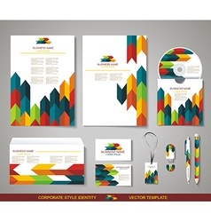Corporate identity templates with abstract design vector image