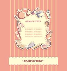 cosmetics background vector image vector image