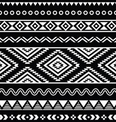 folk seamless aztec ornament pattern vector image