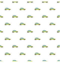 green electric car pattern vector image