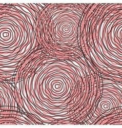 Pink circle abstract seamless pattern vector image